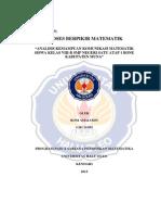 Roni Amaludin G2I1 14 002 - Kemampuan Komunikasi Matematik