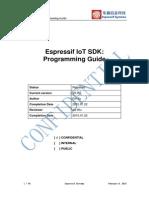 2C SDK Espressif IoT SDK Programming Guide v0.9.5