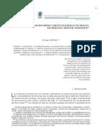 Reformas Constitucionales Mexicanas. Analisis Judicial - Enrique Carpizo