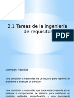 Tareas de La Ingenieria de Requisitos