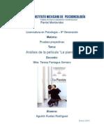 Analisis La Pianista