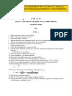 AP7101-Advanced Digital Signal Processing