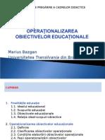 Operationalizarea obiectivelor educationale
