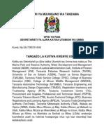 Tangazo Kuitwa Usaili 20 March 2015