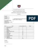 LAB REPORT - Determination of Concentration Acetic Acid in Vinegar