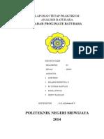 Laporan Tetap Praktikum Analisa Proximate