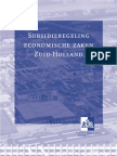 subsidieregeling EZ-ZH