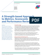 Strength Based Approach to Metrics
