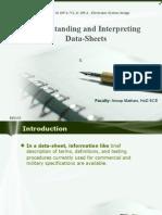 Electronic System Design ppt- Data Sheet Intrepetaton