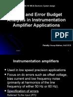 Electronic Syatem Design ppt- Error Budget in Amp