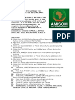 AMISOM Integrates the Gender Perspective Into Military Operations