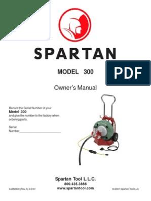 300 Manual   Equipment   Machines   Spartan 300 Sewer Machine Wire Diagram      Scribd