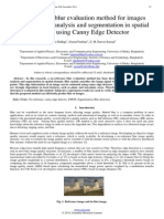 No-reference blur evaluation method for images based on edge analysis and segmentation in spatial domain using Canny Edge Detector