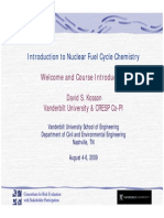 01 Kosson Nuclear Chemistry Short Course 8-4-09