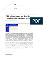 DAL - Database for Arabic Literature in Western Research-libre
