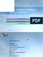 Características Positivas y Negativas Del Signo de Tauro