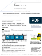 Cybercriminals Use RansomWeb Attacks to Hold Website Databases Hostage