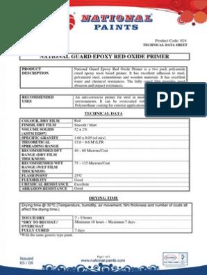 Guard Epoxy Red Oxide Primer pdf | Epoxy | Corrosion