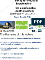 Toward a Sustainable Industrial System
