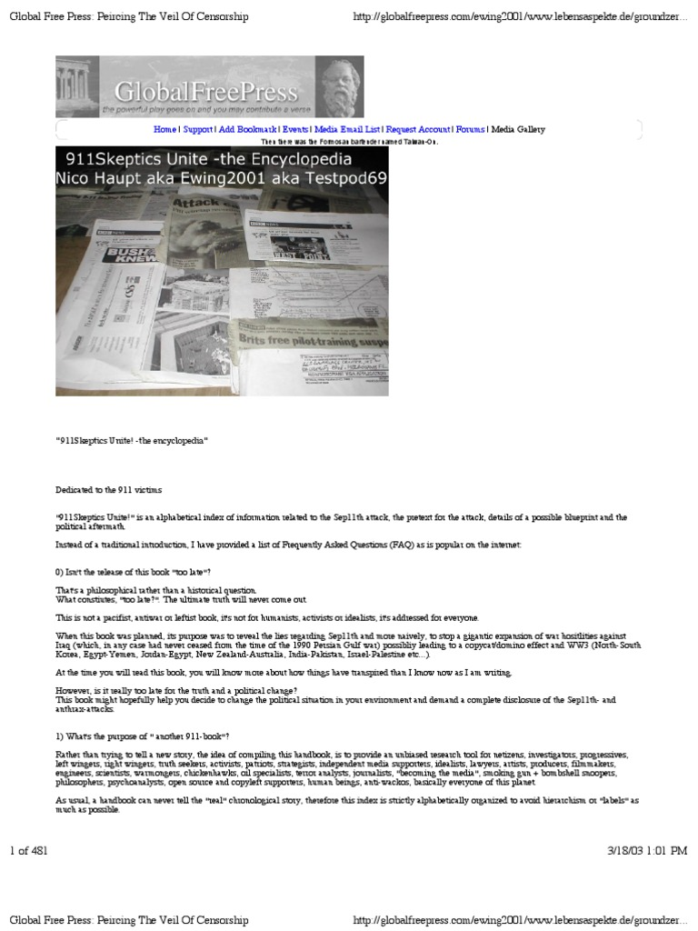 911 Encyclopedia Air National Guard International Politics