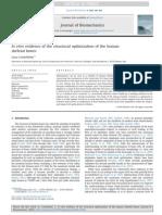 In Vitro Evidence of the Structural Optimization of the Human Skeletal Bones 2014 J Biomechanics Copy