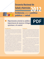 ENSANUT 2012 Hipertensión en Adultos