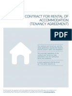 Contract for Rental Tenancy