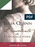 L'Insolente de Stannage Park - Julia Quinn