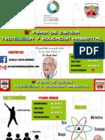 Afiche III Feria de Ciencia Teresa Manrique Instrucciones
