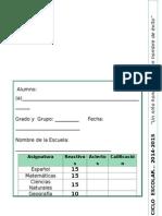 5to Grado - EXAMEN Bloque 1 (2014-2015)