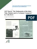 Mathematics of Ideal Villa