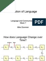 Evolution of Language Slides (1)