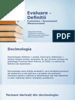 Evaluare – Definitii