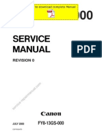 CANON IR5000 IR6000 Service Manual Pages