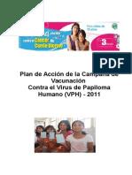 Plan de Acción de La Campaña de Vacunación Virus de Papiloma Humano