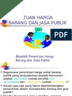 Penentuan Harga Barang dan Jasa Publik