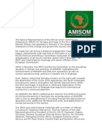 AMISOM Head engages with EU partners and Somali diaspora