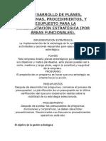 Desarrollo de Planes de Planes y Programas.