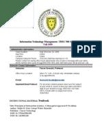 Syllabus IMSC 500 Information Syatems Technology 1Section 901 Online Fall 09