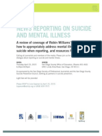NEWS REPORTING ON SUICIDE AND MENTAL ILLNESS