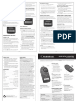 Manual Del Medidor de DB 3302055 Radio Shack