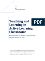 Teaching and Learning in Active Learning Classrooms - FaCIT CMU Research, Recommendations, And Resources