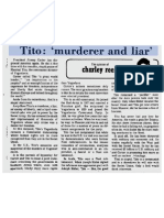 "Tito - ""Murderer and Liar"" - March 14 1978"