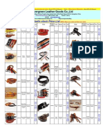 Belt(Real Leather) Stock Wholesale Price List for 2015 (1)