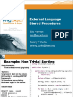 A Tour of External Language Stored Procedures for MySQL Presentation