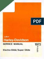 1970 1971 1972 Harley Davidson Electra Glide Super Glide Service Manual