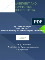 Management and Monitoring Perianesthesia