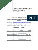 Apuntes Curso de Coaching Estrategico