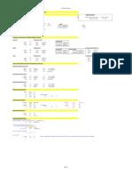 Tabela Para Calculo Direto de Estacao de Tratamento de Esgoto