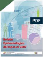 Boletin_epid_2007 Enfermedades Ocupacionales Inpsasel 2007